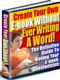 Create eBook without Writing a Word
